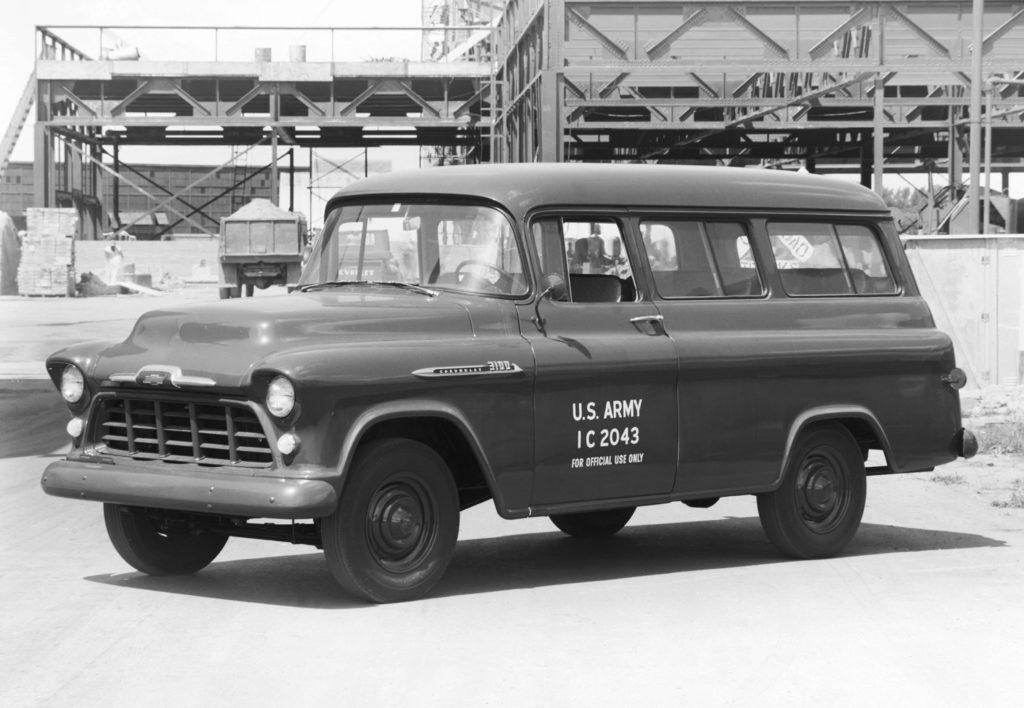 1956 Chevy Suburban Army