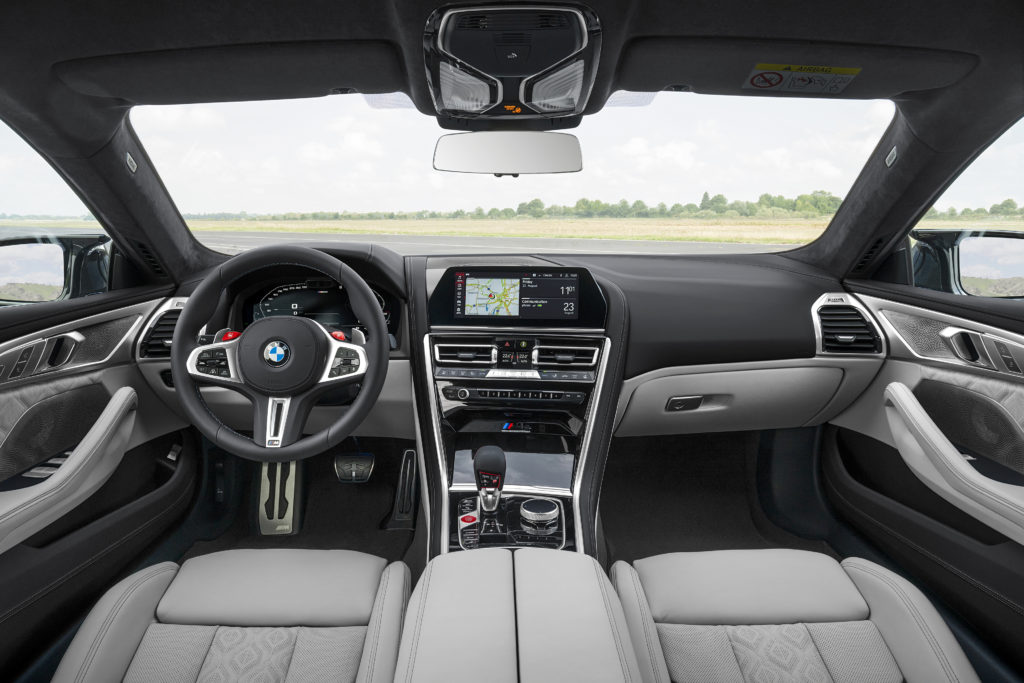 Interior view of the M8 Gran Coupe