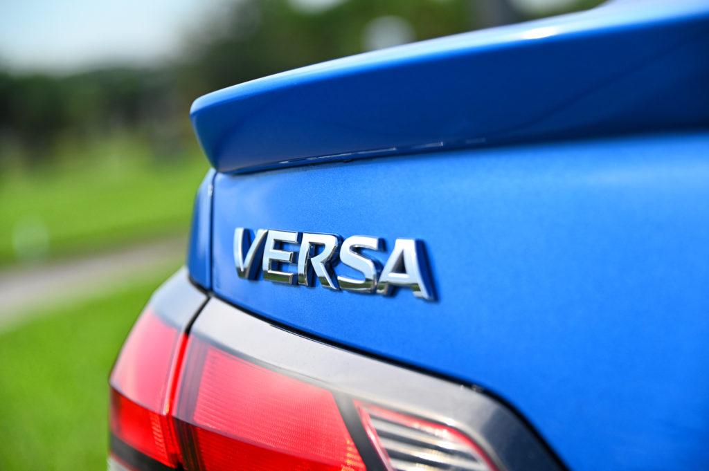 The Nissan Versa spoiler