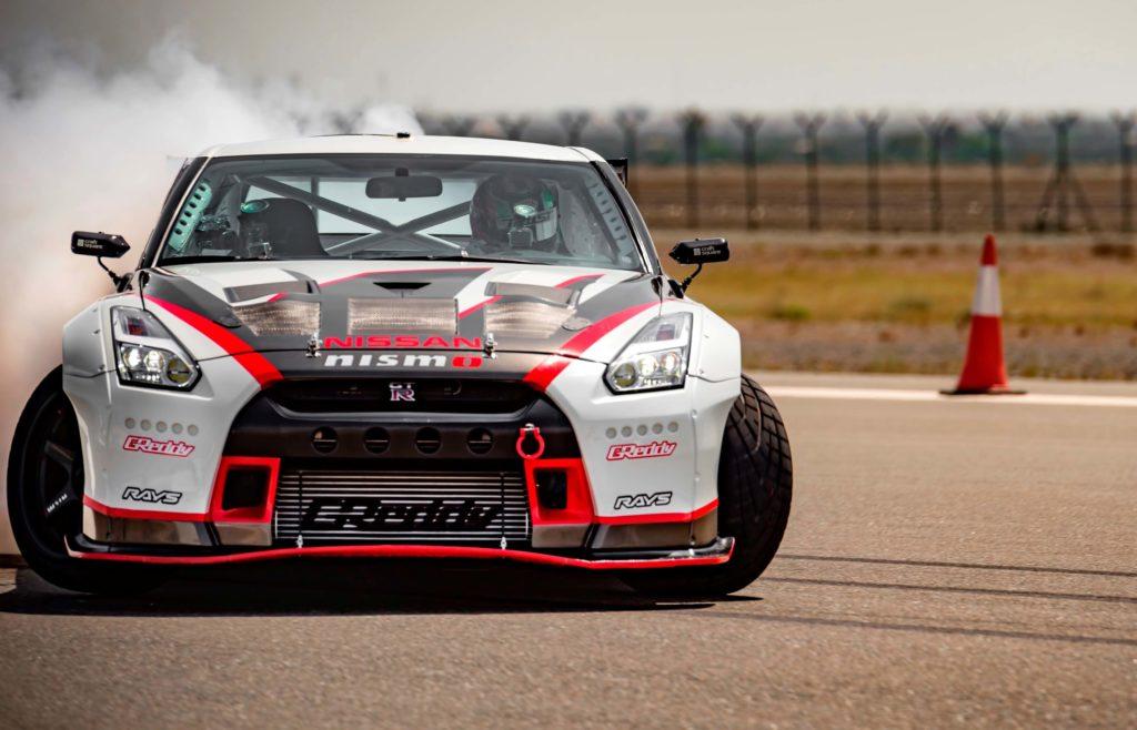 Nissan GT-R NISMO drifting
