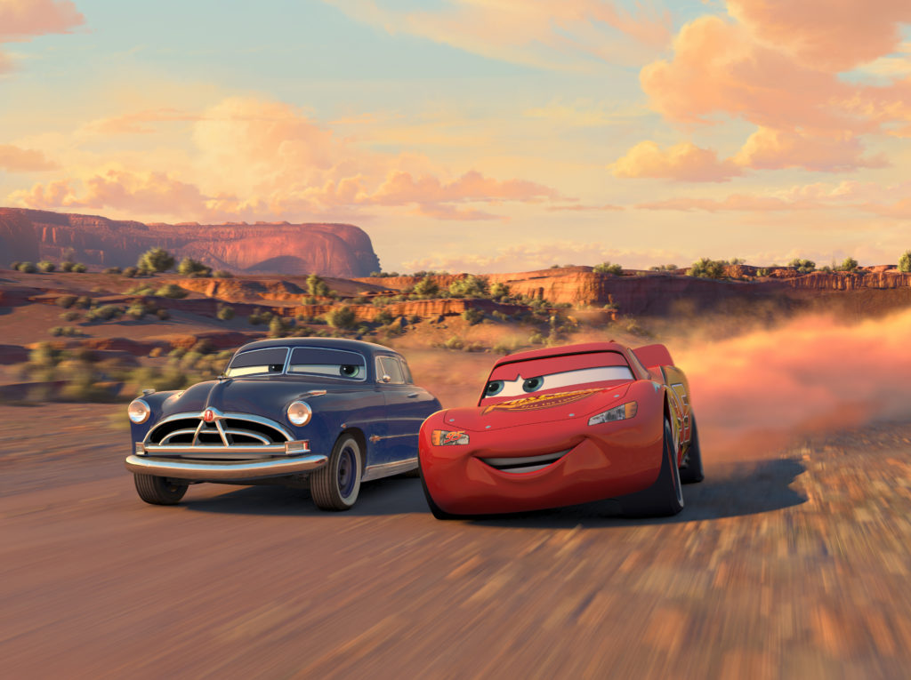 Cars Hudson and Lightning McQueen