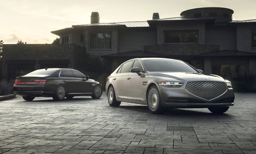 Genesis G90 front and rear