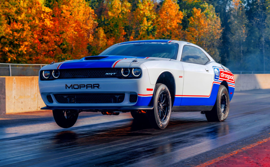 Wheels up with the MOPAR Dodge Challenger Drag Pak