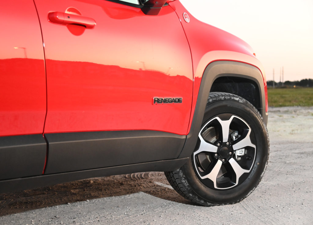 Front right of Jeep Renegade