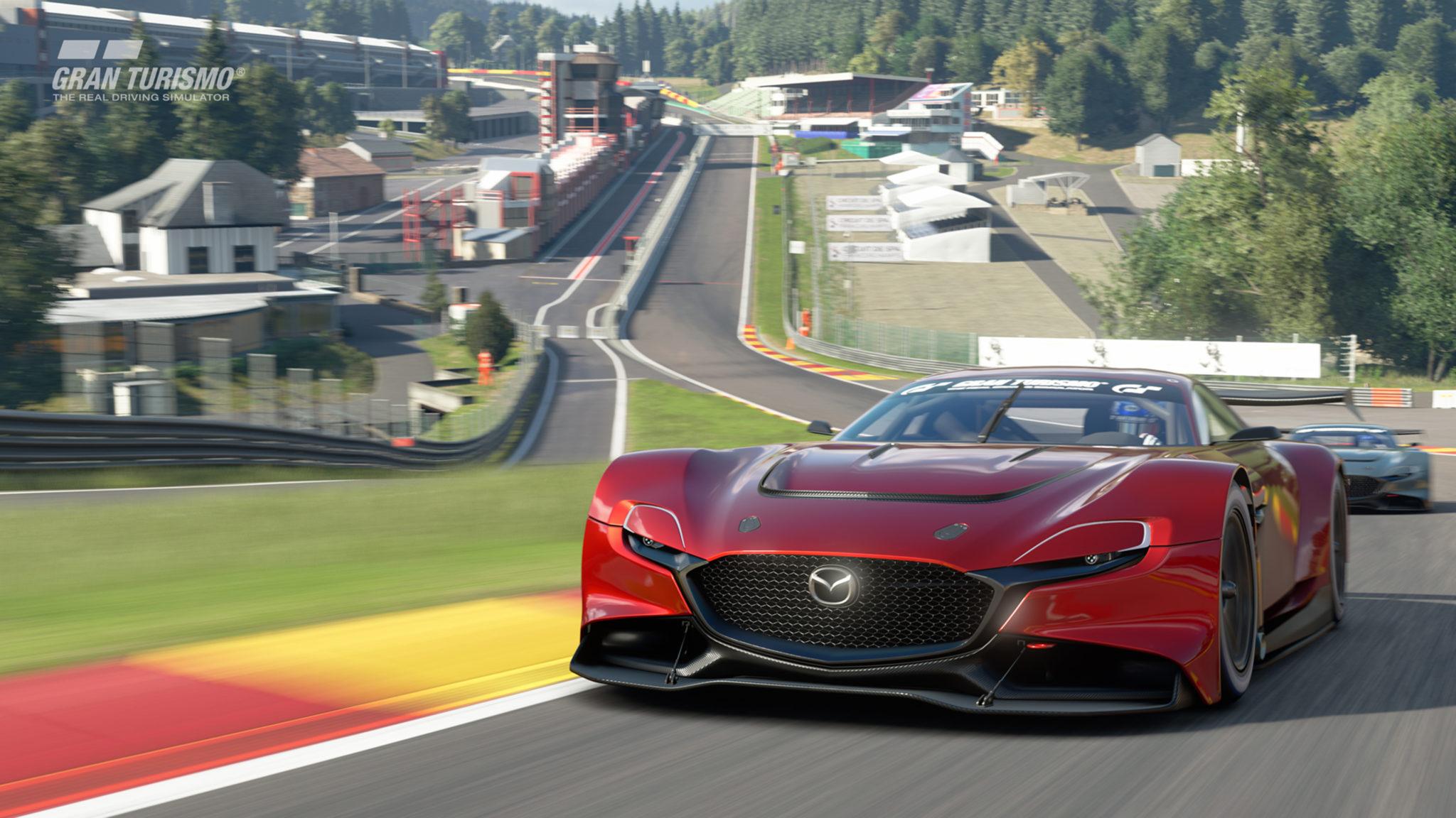 Mazda RX-Vision GT3 at speed