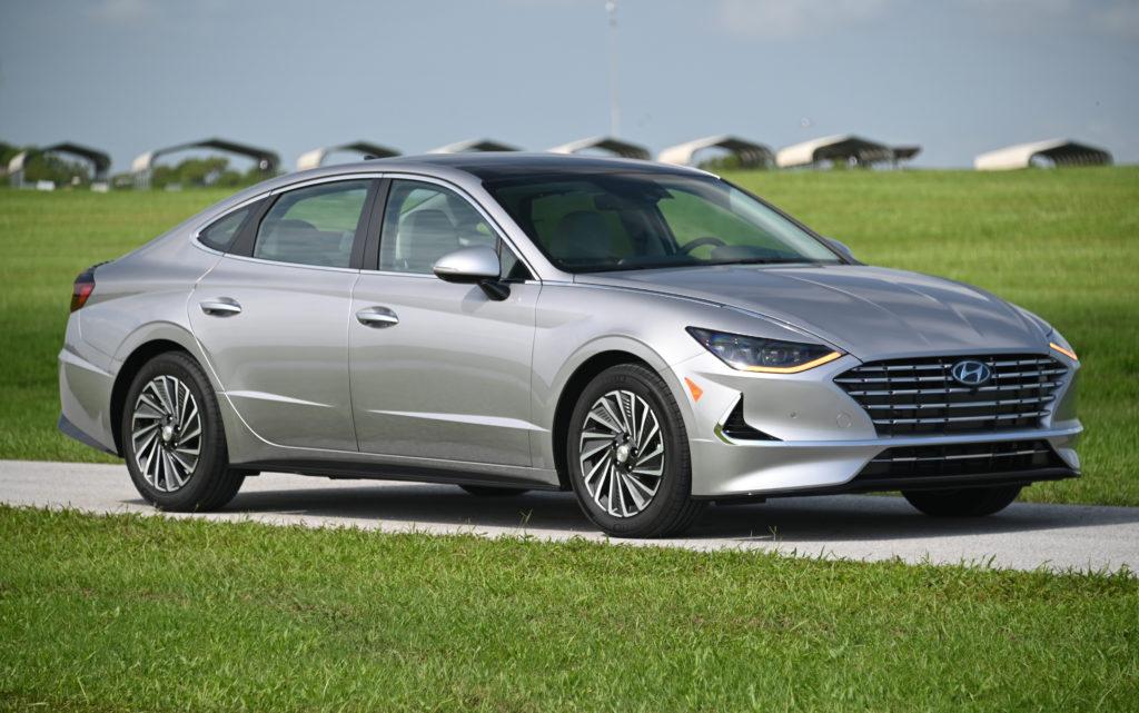 Sonata hybrid parked