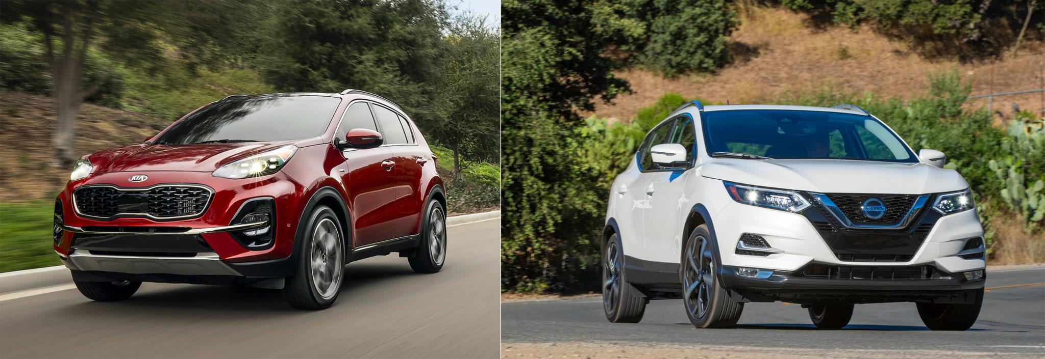 Kia Sportage vs Nissan Rogue Sport