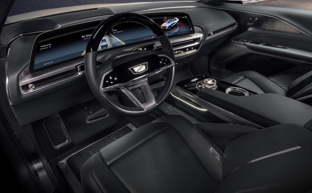 interior of the Cadillac Lyriq