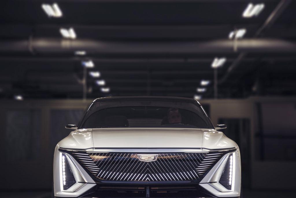 Cadillac lyriq head on