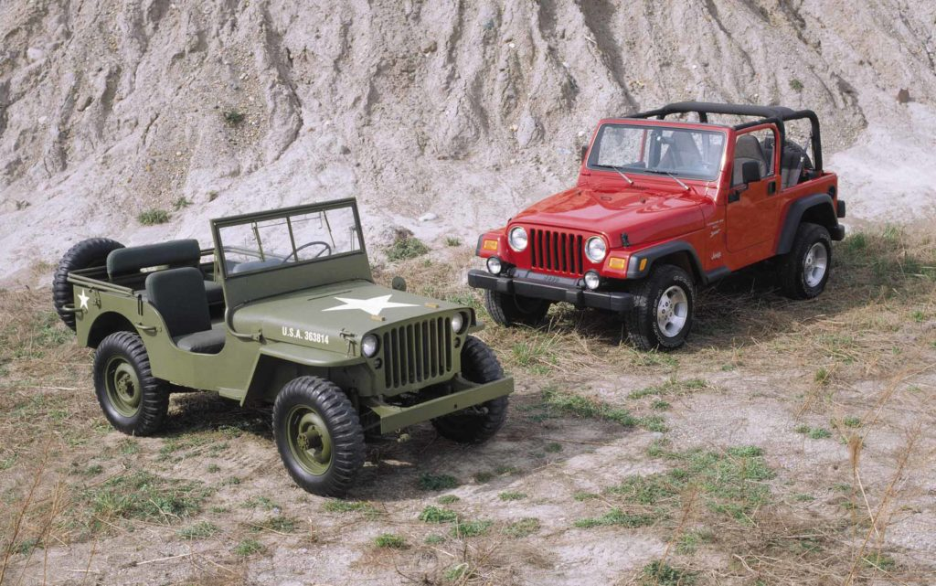 Willys MB Jeep and Wrangler