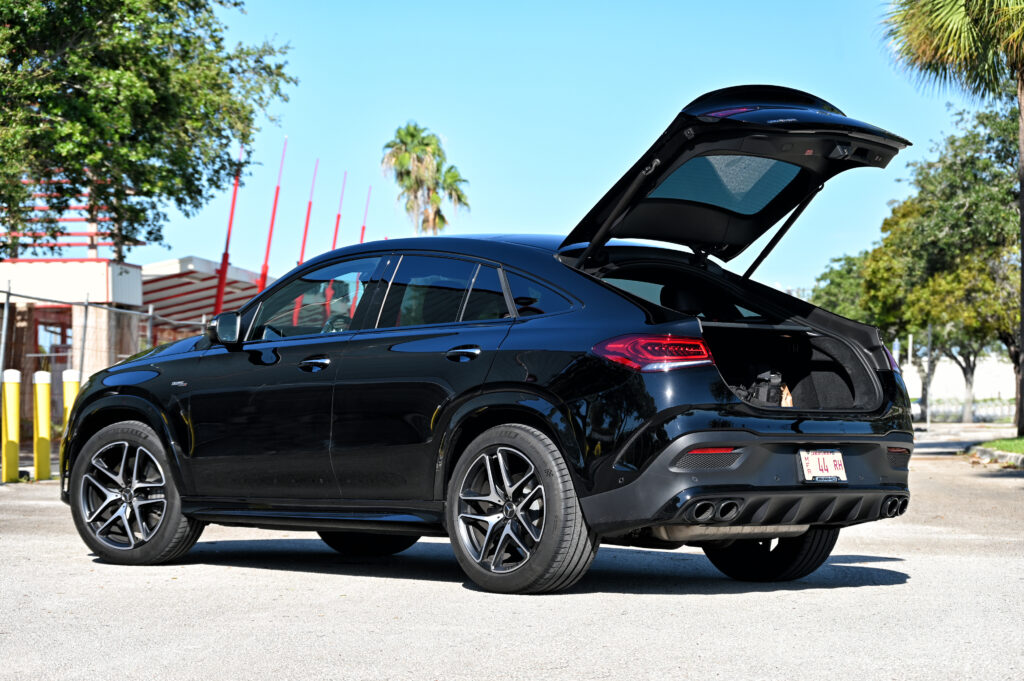 AMG GLE 53 Coupe at the fairground