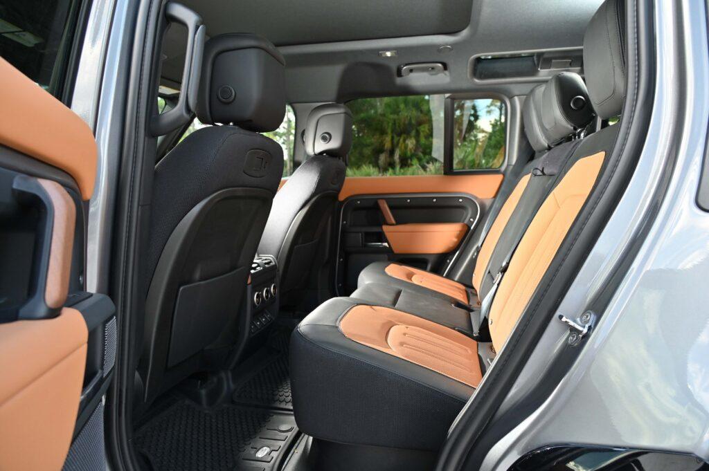 Land Rover Defender back seat