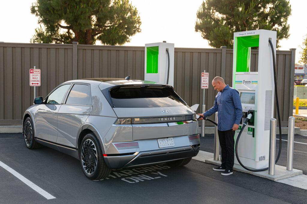 charging Electric Hyundai ioniq 5