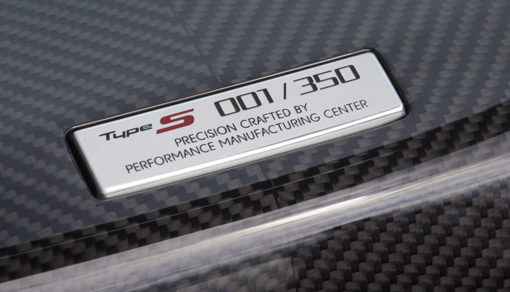 New NSX Type S Builder Plate